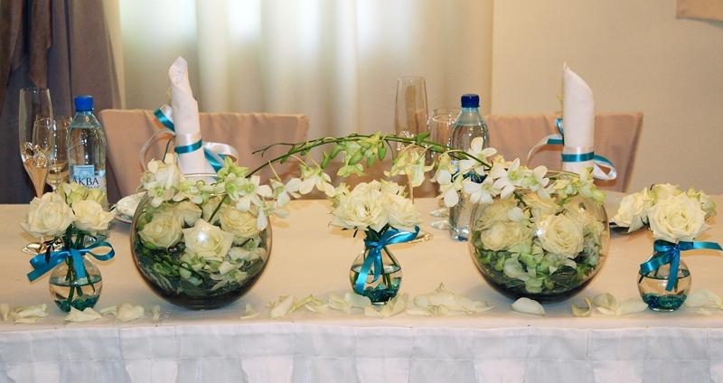 Декорации свадебных столов своими руками